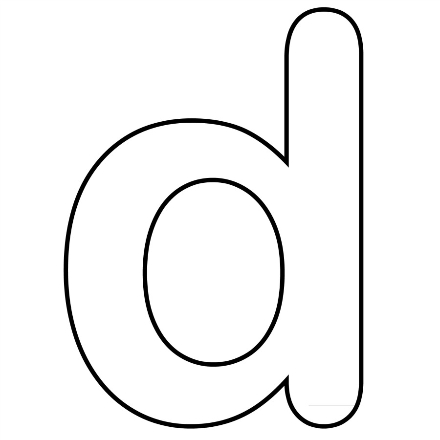 letter d coloring pages preschool black | Letter D - Dr. Odd