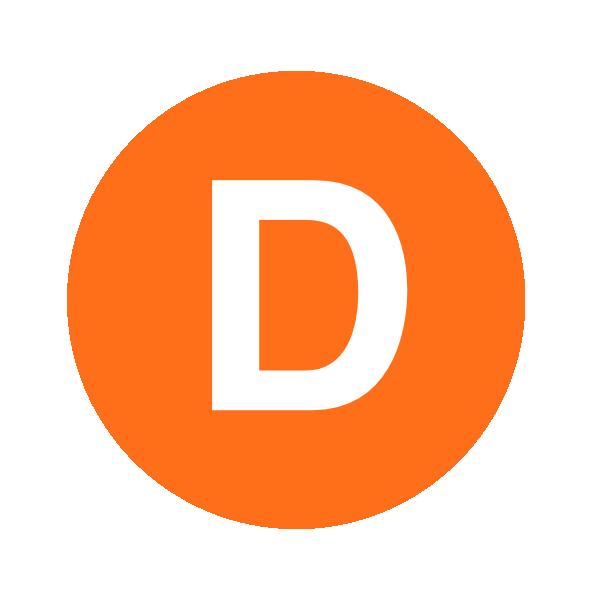 Modern Letter X Logo:  Letter D