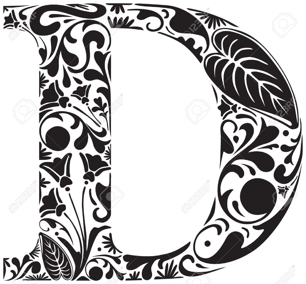 Letter Art Design : Letter d dr odd