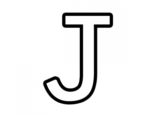 Letter J on coloring pages for letter a k capital letters