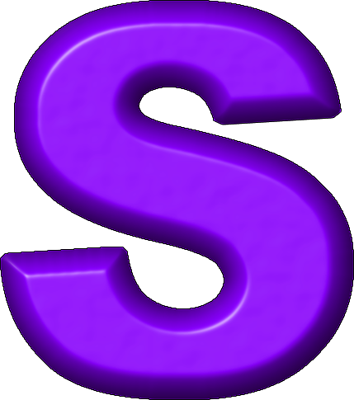 Letter Purple S