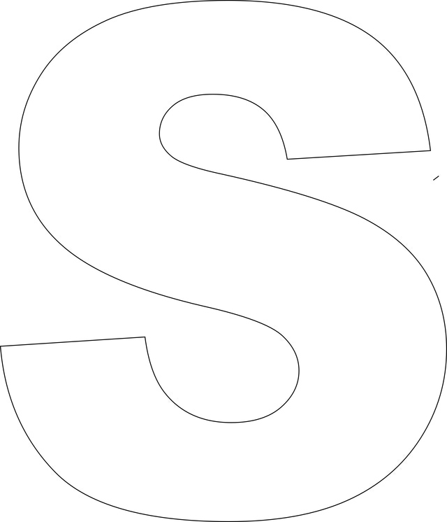letter-s25 S Alphabet Letter Templates on loarg ex, lower case, free download, free printable lower case,
