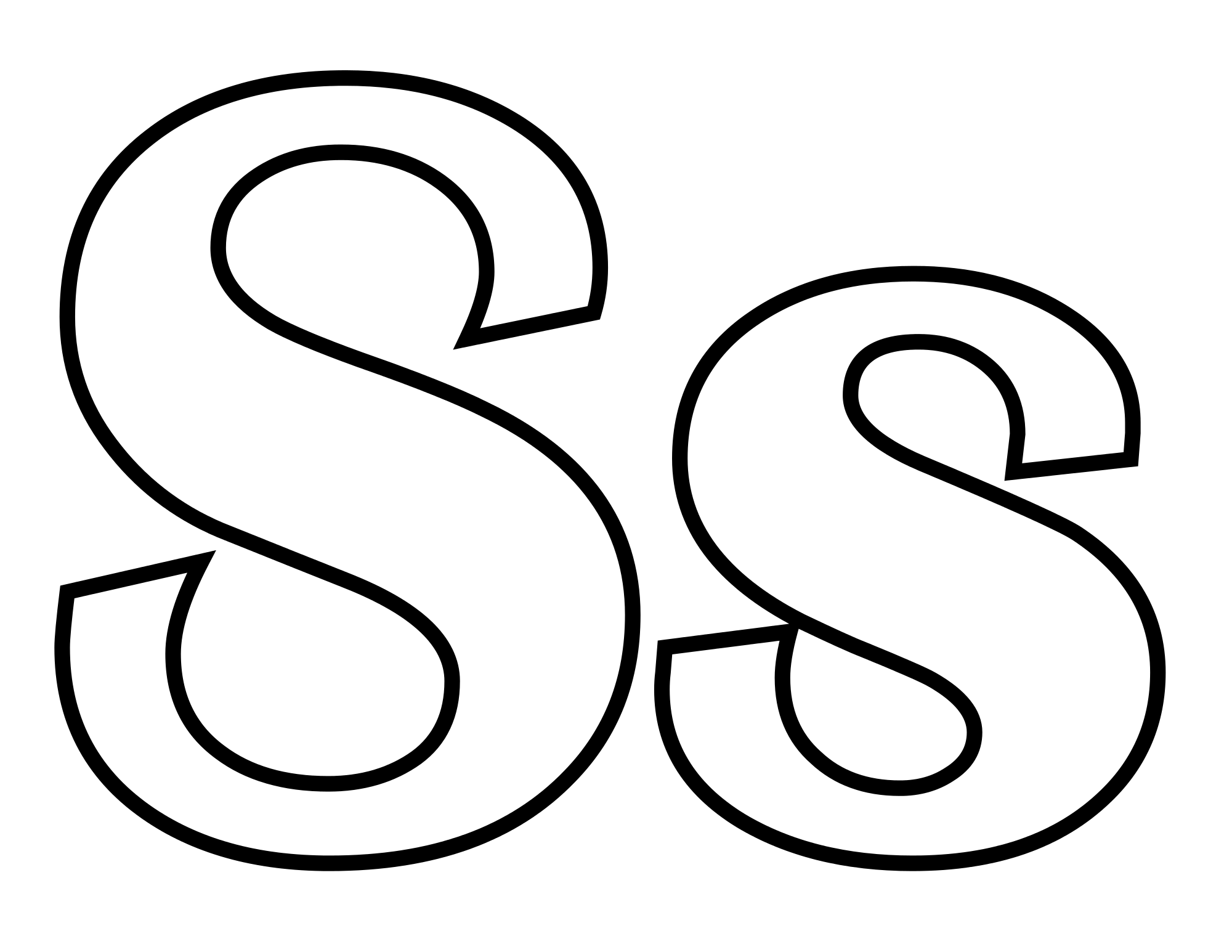 Letter S on Letter Q Coloring Pages