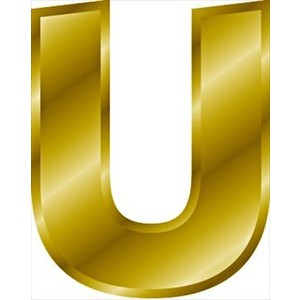 Do a u in bubble letters lowercase p letter thus