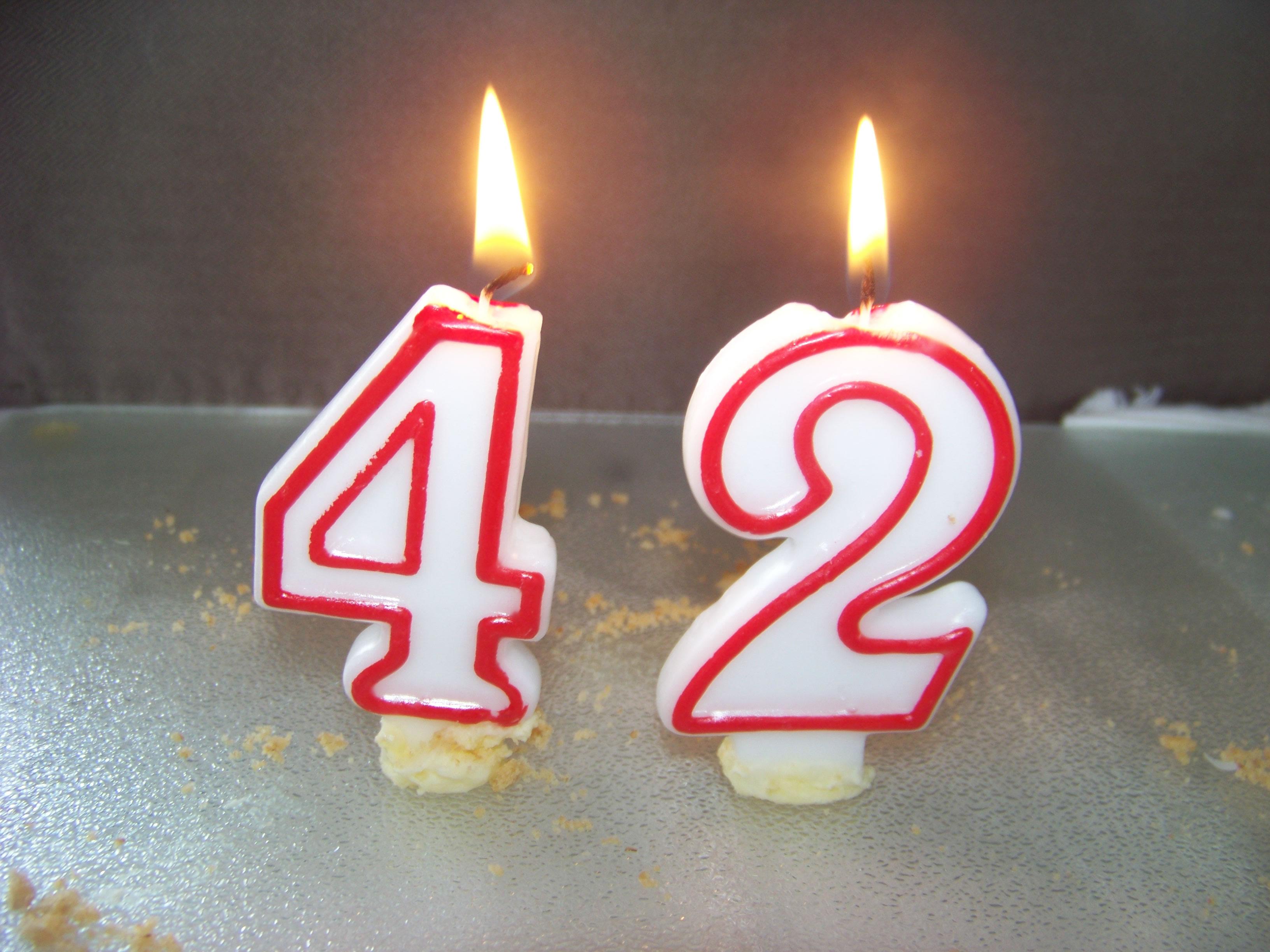 Поздравления с днем рождения 42 года