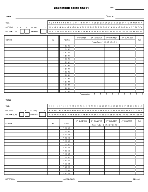 basketball score sheet 2018