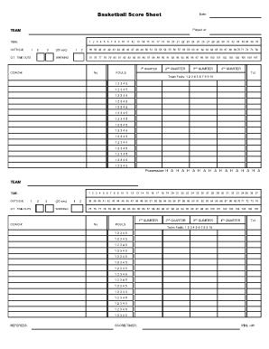 youth basketball score sheet