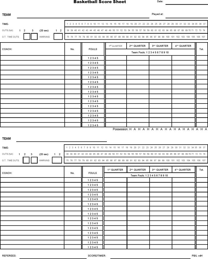 It is an image of Dramatic Printable Basketball Stat Sheet