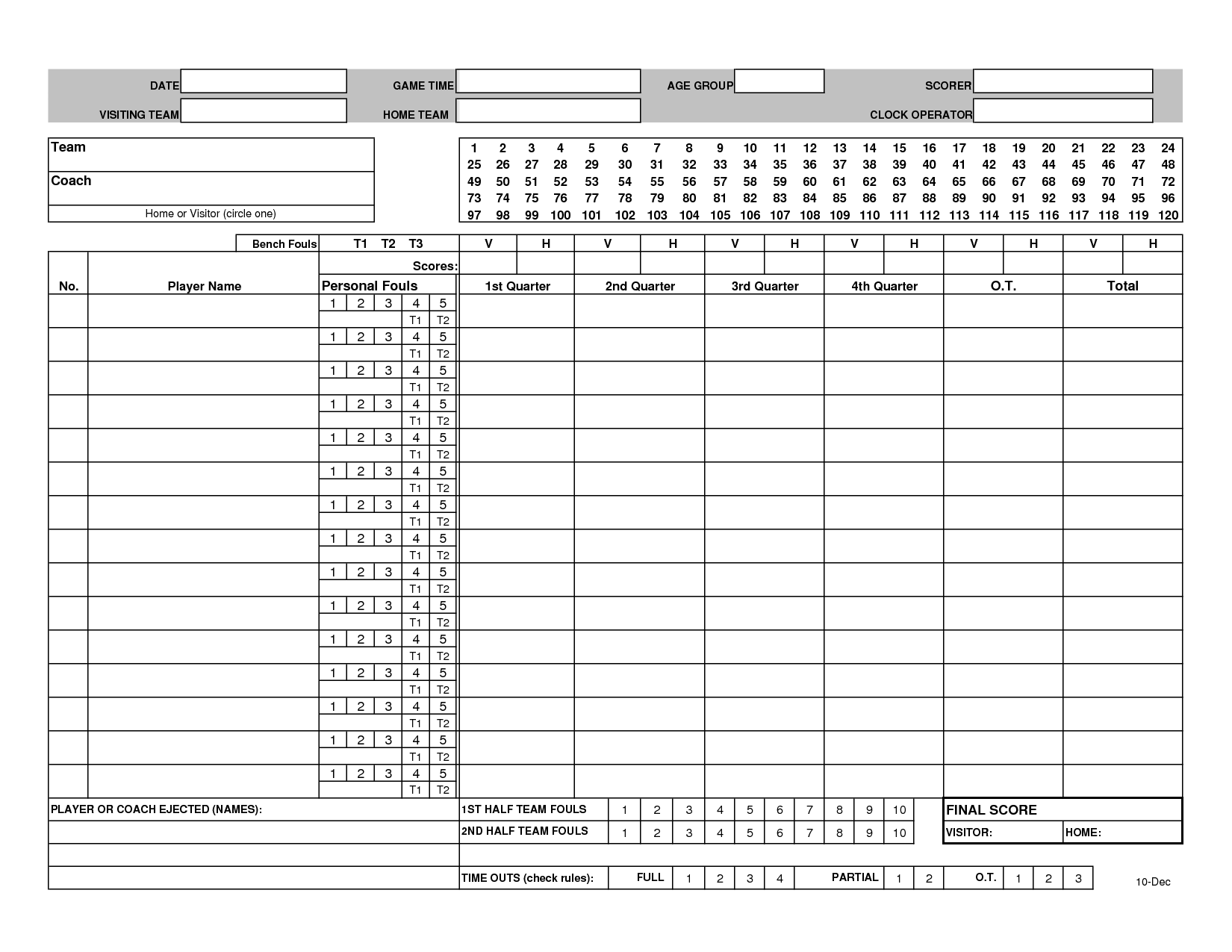 It is a photo of Zany Printable Basketball Stat Sheet