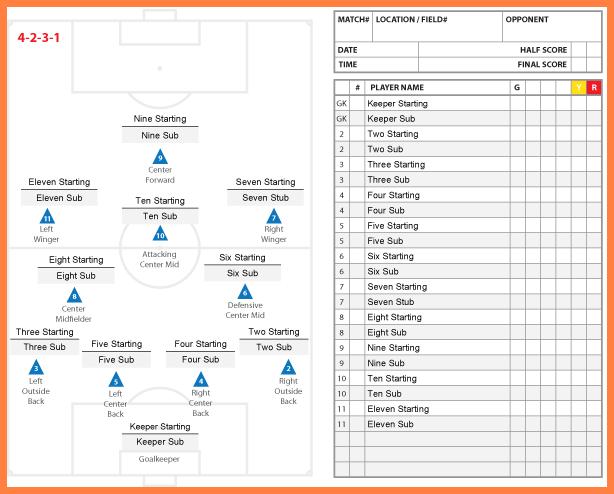 Soccer Stat Sheet 2019