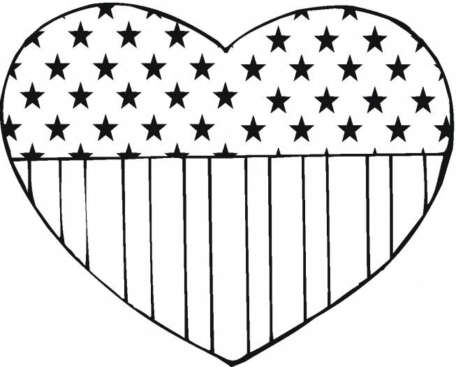 coloring pages for flag day - photo#31