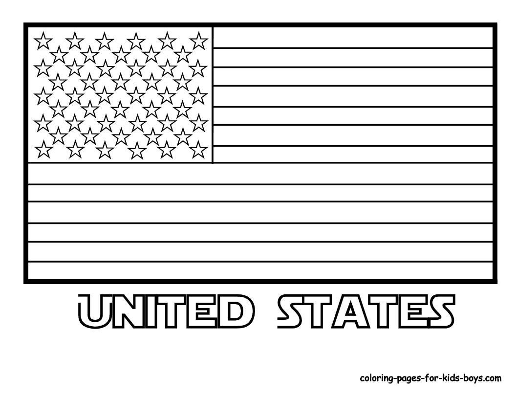 American flag coloring pages 2019