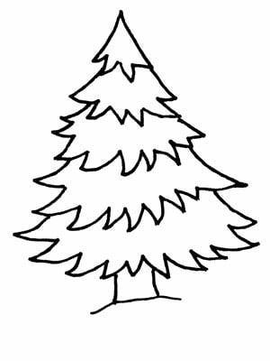 Christmas Tree Coloring Sheets 2017 Dr Odd