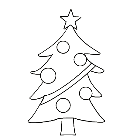 Christmas tree coloring sheets 2018 dr odd for Christmas tree printable coloring pages