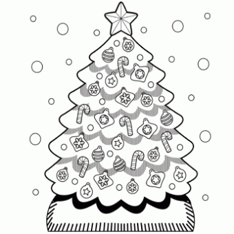 Christmas Tree Coloring Sheets 2018- Dr. Odd