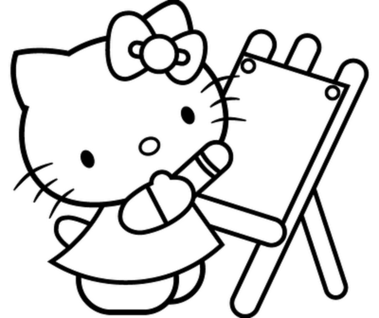 Coloring Pages Hello Kitty Dr Odd Hello Coloring Page