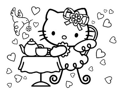 Coloring Pages Hello Kitty Dr