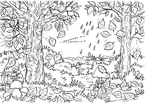 Fall Coloring Pages 2018 - Dr. Odd