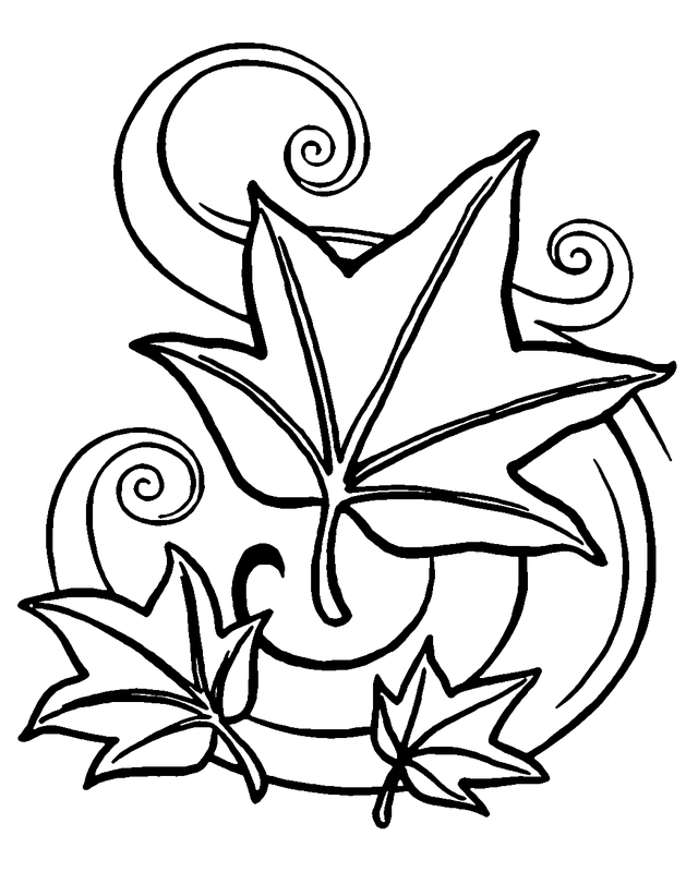 coloring pages fall themed - photo#32