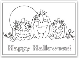 free printable halloween coloring pages suitable for toddlers and preschool and kindergarten kids to print and color