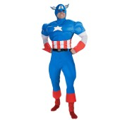 Captain America Deluxe Muscle Teen Costume
