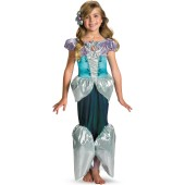 Disney Princess - Ariel Lamé Deluxe Toddler / Child Costume