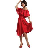 Saturday Night Fever Red Dress Adult Costume