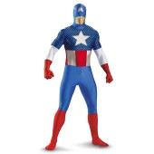 Captain America Bodysuit Adult Costume