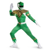 Power Rangers Green Ranger Classic Muscle Adult Plus Costume