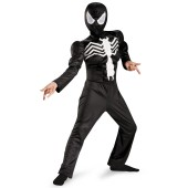 Ultimate Black Suited Spider-Man Muscle Child Costume