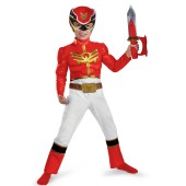 Red Power Ranger Megaforce Muscle Chest Toddler / Child Costume