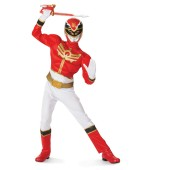 Red Power Ranger Megaforce Muscle Chest Child Costume