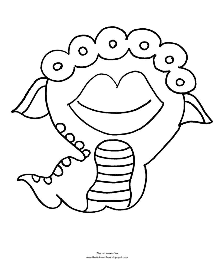 Monster Coloring Pages 2018 Dr