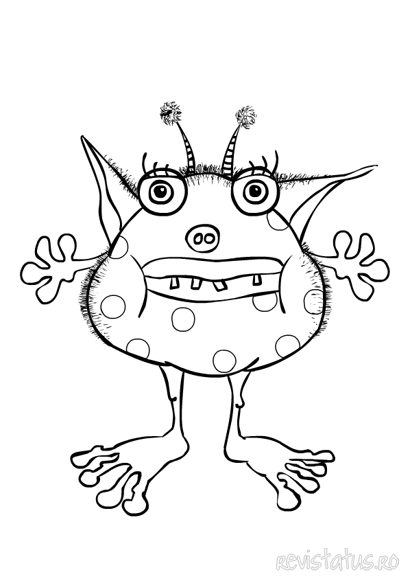 monster coloring pages images - photo#21