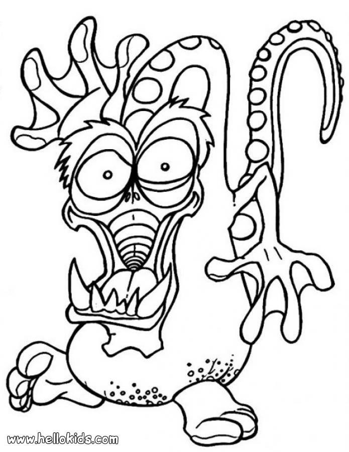 monster coloring pages images - photo#11