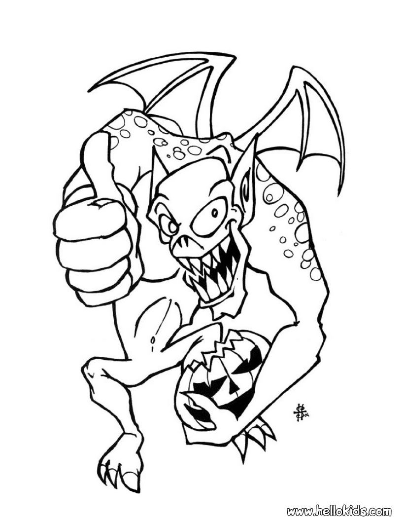 Monster coloring pages 2018 dr odd for Monster coloring pages