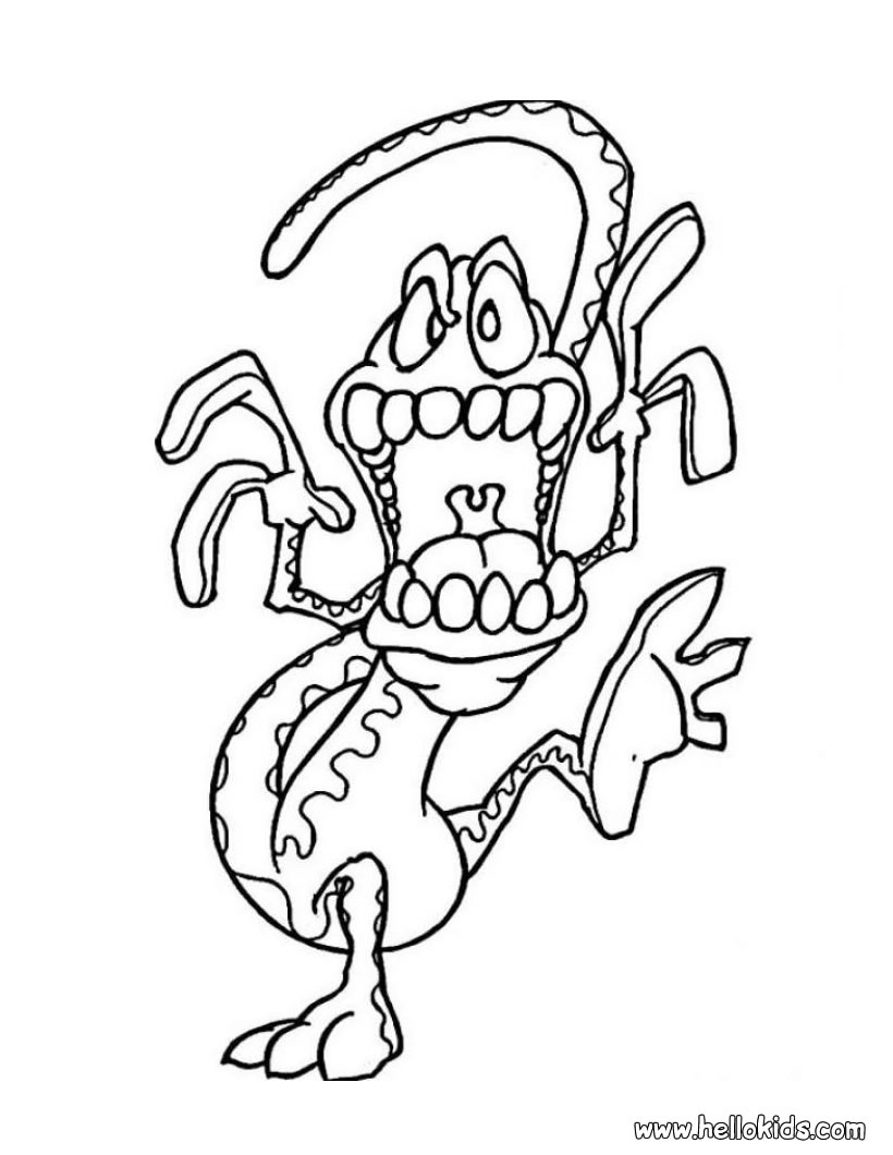 monster coloring pages 2019
