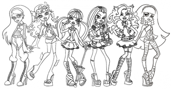 Monster High Coloring Pages 2018- Dr. Odd