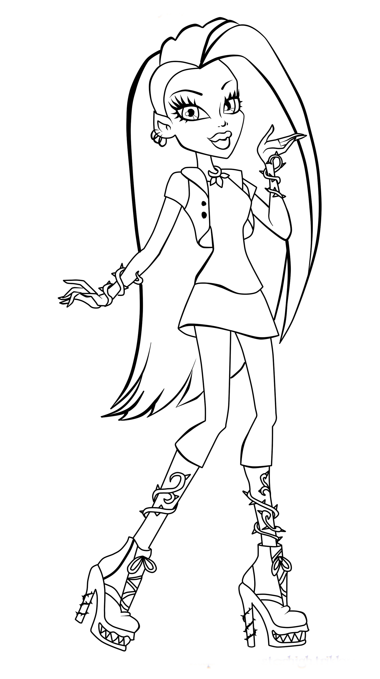 monster high coloring pages 2017 dr odd