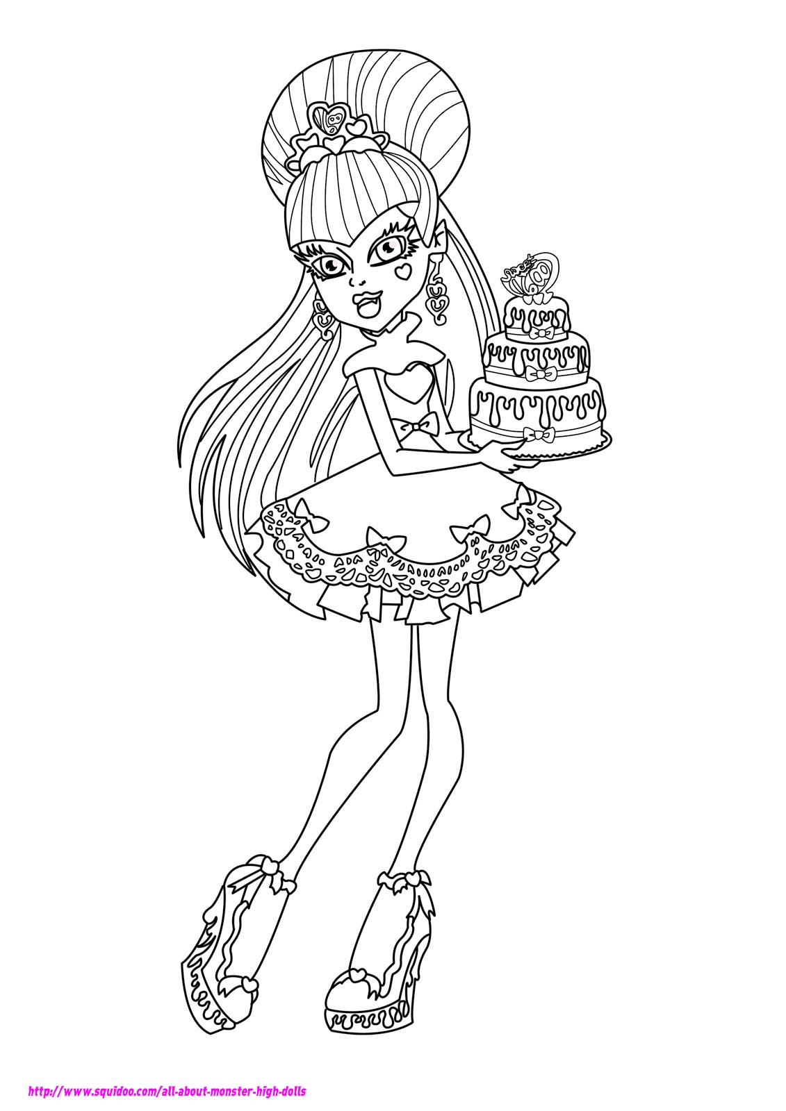Monster High Coloring Pages On Pinterest