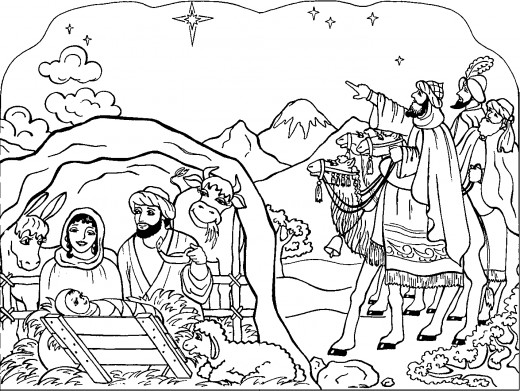 Nativity Coloring Pages - 2018