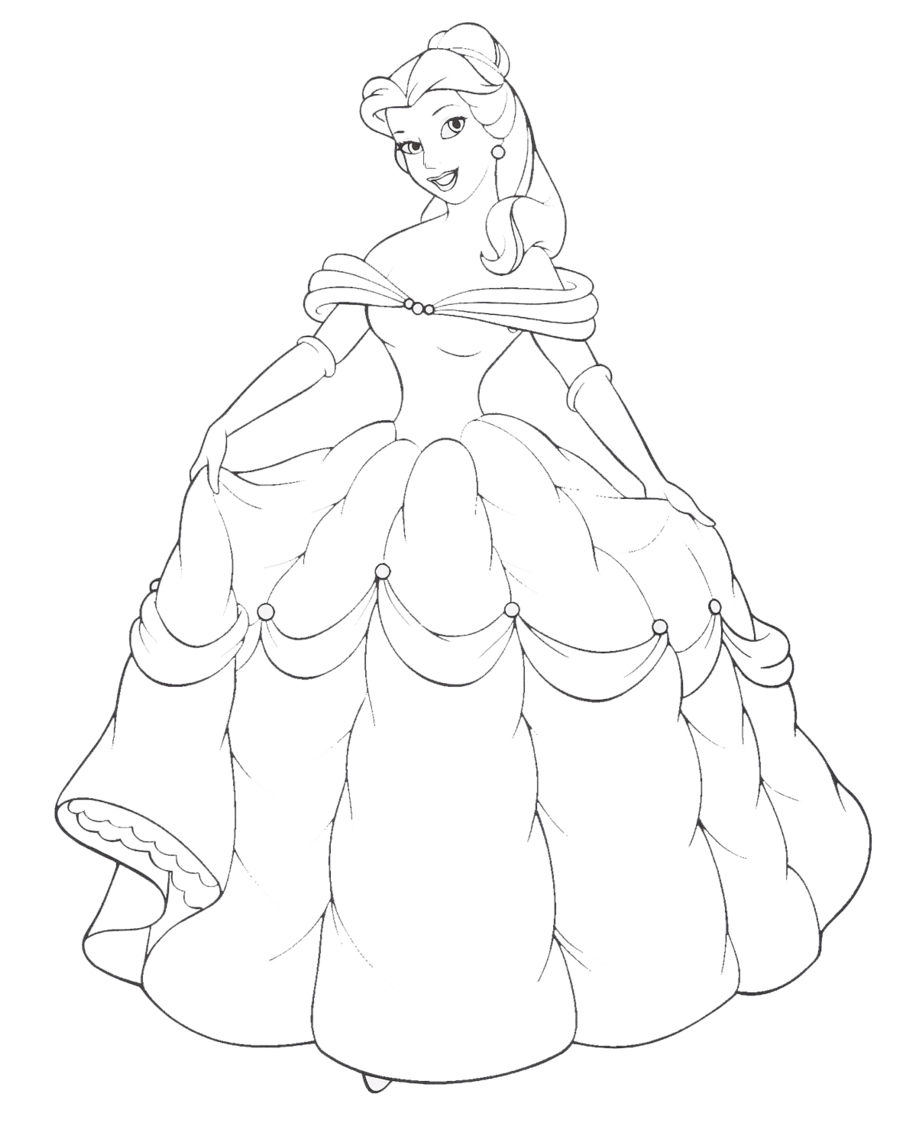 princess coloring page5