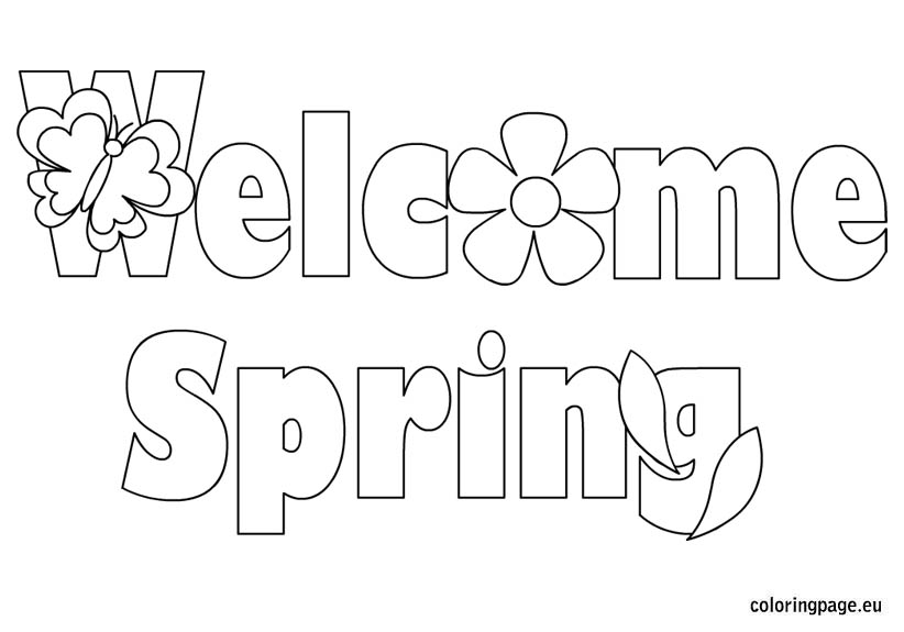 spring coloring pages detailed words - photo#30