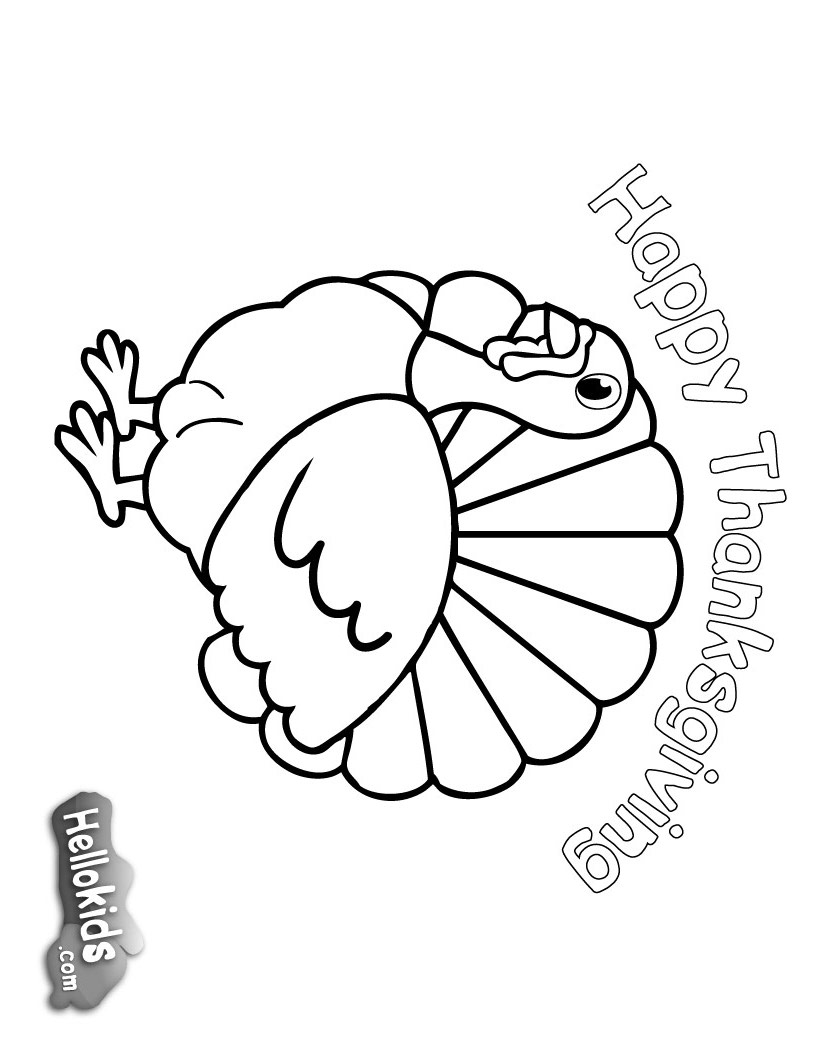 thanks giving coloring pages - photo #34