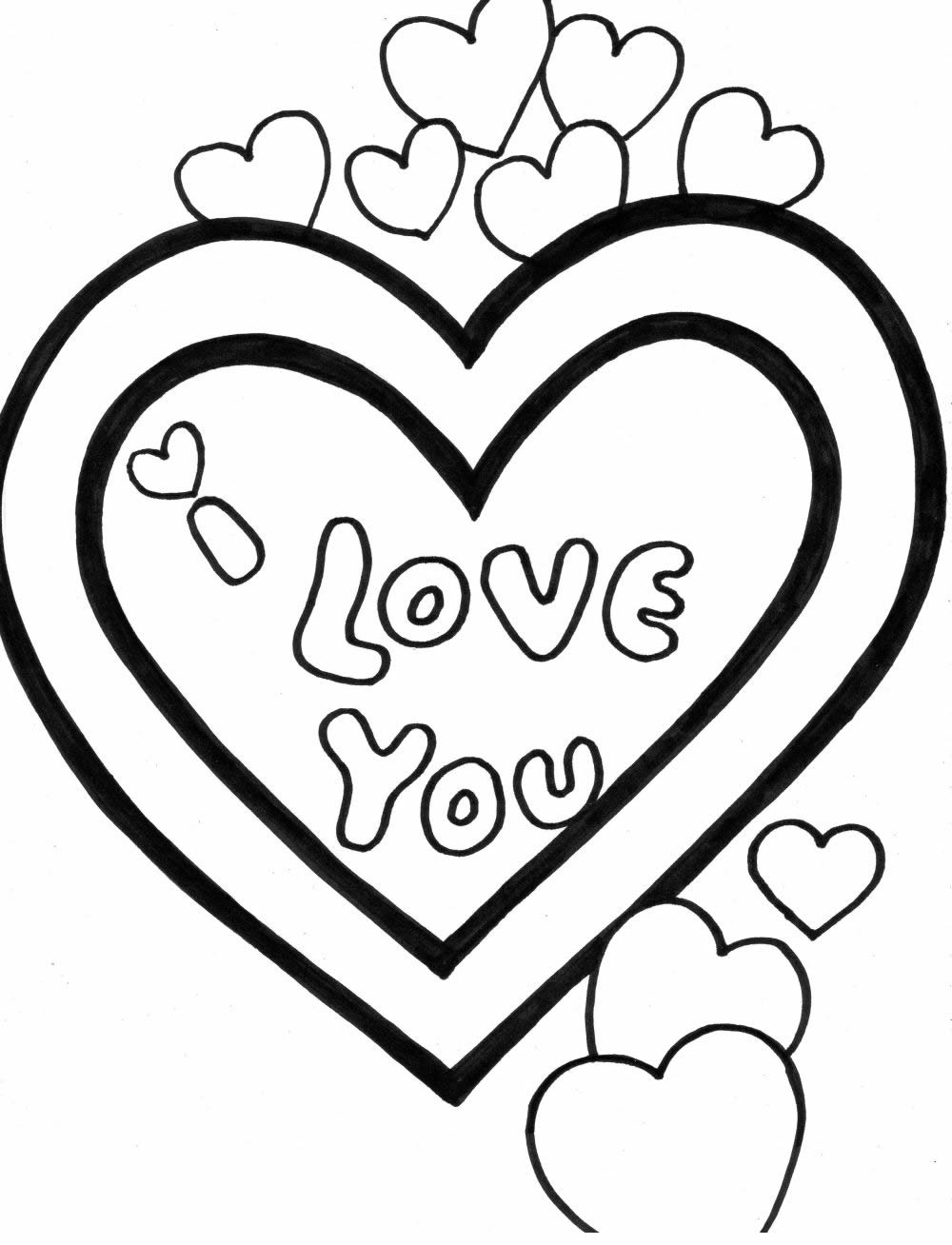 Valentine coloring pages 2018 dr odd for Love you coloring pages