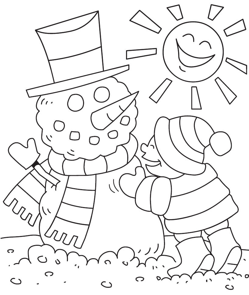 Winter pages to color - Winter Coloring Pages