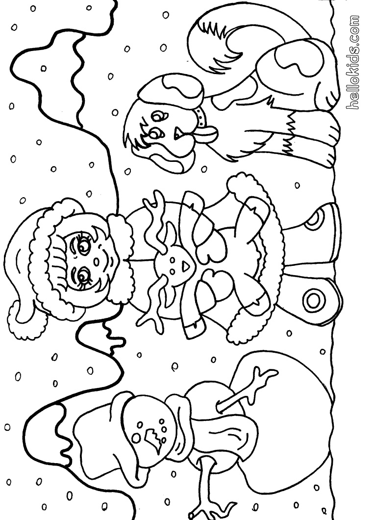 Winter Coloring Pages - 2018